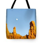 Mother And Child And Moon 21 Tote Bag