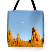 Mother And Child And Moon 25 Tote Bag