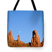 Mother And Child And Moon Tote Bag