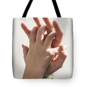 Mother And Child Linking  Tote Bag