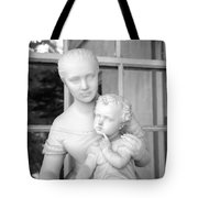 Mother And Child Statue Tote Bag