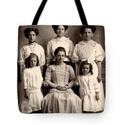 Mother And Daughters Tote Bag