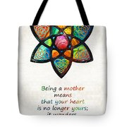 Mother Mom Art - Wandering Heart - By Sharon Cummings Tote Bag