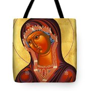 Mother Of God Similar To Fire 007 Tote Bag