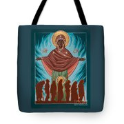 Mother Of Sacred Activism With Eichenberg's Christ Of The Breadline Tote Bag