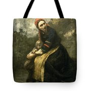 Mother Protecting Her Child Tote Bag