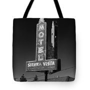 Mother Road Motel Black And White Tote Bag