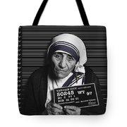 Mother Teresa Mug Shot Tote Bag