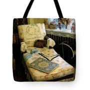 Mother's Chintz Chaise In The Corner Tote Bag by RC deWinter