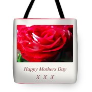 Mothers Day A Red Rose Tote Bag