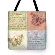 Mothers Day Butterfly Tote Bag