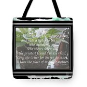 Mother's Day Greeting And Angel Tote Bag