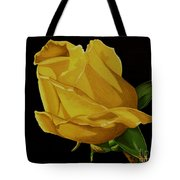 Mother's Yellow Rose Tote Bag by Cory Still