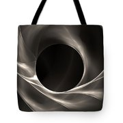 Motion Of Filaments On Black Tote Bag