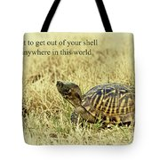 Motivating A Turtle Tote Bag