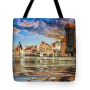 Gdansk Motlawa River- Poland Tote Bag