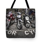 Motor Cycles Tote Bag