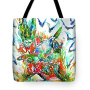 Motor Demon With Bats Tote Bag by Fabrizio Cassetta