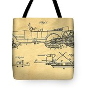 Motor Driven Sleigh Support Patent Drawing From 1915 1 Tote Bag