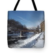 Motor Mill In Winter Tote Bag