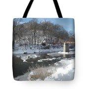 Motor Mill Winter Pano Tote Bag