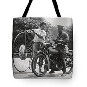 Motorcycle And Velocipede - 1921 Tote Bag