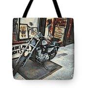 Motorcycle At Philadelphia Eddies Tote Bag