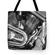 Motorcycle Close-up Bw 1 Tote Bag