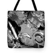Motorcycle Close-up Bw 2 Tote Bag