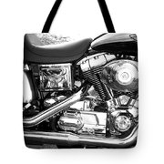 Motorcycle Close-up Bw 3 Tote Bag