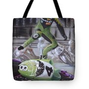 Kawasaki Motorcycle Crash Tote Bag
