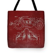 Motorcycle Support Patent Drawing From 1932 3 Tote Bag