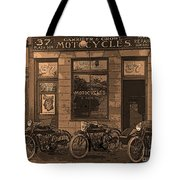 Motorcycles And Furnished Rooms Tote Bag