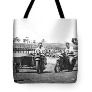 Motorcycles Set Golf Record Tote Bag