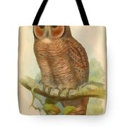 Mottled Wood Owl Tote Bag
