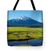 Mount Bachelor And Meadow Tote Bag