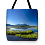 Mount Bachelor And Sparks Lake Tote Bag