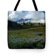 Mount Baker Lupine Meadows Tote Bag