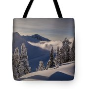 Mount Baker Snowscape Tote Bag by Mike Reid