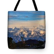 Mount Baldy On A New Years Eve Tote Bag