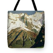 Mount Blanc Mountains Tote Bag