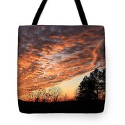 Mount Cheaha Sunset-alabama Tote Bag