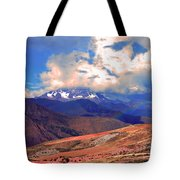 Mount Chicon Rainbow In Andes Tote Bag