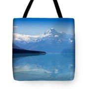 Mount Cook Reflecting In Lake Pukaki Tote Bag