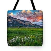 Mount Crested Butte Summer Sunset Tote Bag