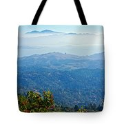 Mount Diablo From Mount Tamalpias-california Tote Bag