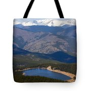 Mount Evans And Echo Lake Tote Bag