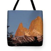 Mount Fitz Roy At Sunrise Tote Bag