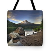 Mount Hood At Trillium Lake Sunset Tote Bag