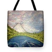 Mount Hood Night Sky Tote Bag